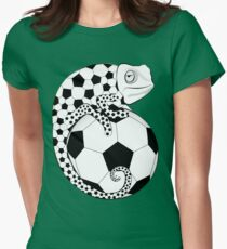 Soccer  Chameleon  Women's Fitted T-Shirt