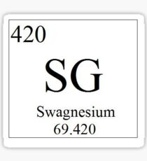 the element of swag Sticker