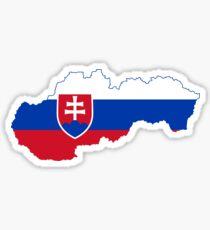 Flag Map of Slovakia  Sticker