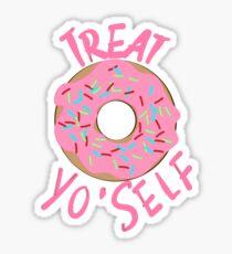 Treat yo' self donut Sticker