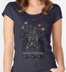 Camiseta entallada de cuello redondo Lujuria y lascivia que inducen carnicería medieval viciosa