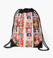 Fashion Doll Montage IV Drawstring Bag