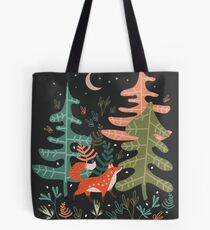 Evergreen Fox Tale Tote Bag