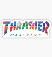 thrasher color block logo Sticker