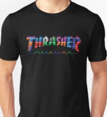 thrasher color block logo T-Shirt