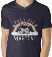 Pugs are Magical Men's V-Neck T-Shirt