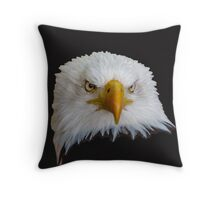 Bald Eagle Just Looking! Throw Pillow