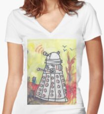 EXTERMINATE! Redux Women's Fitted V-Neck T-Shirt