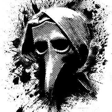 The Plague Doctor in Black by meldredd
