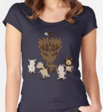 Game Of Musical Thrones Women's Fitted Scoop T-Shirt