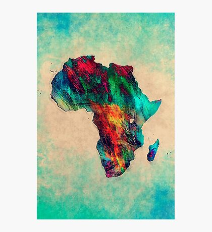 Africa map Photographic Print