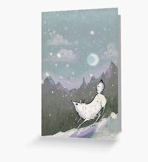 Tundra Wolf Running Greeting Card