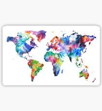 Watercolor World Map Sticker
