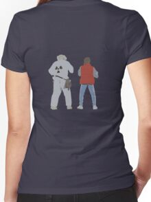 Back (s) to the Future  Women's Fitted V-Neck T-Shirt
