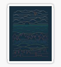 Linear Landscape Sticker