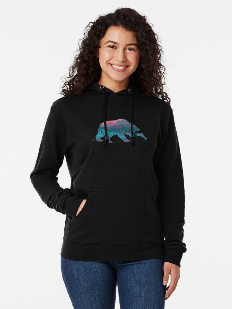 Alternate view of Bear Country Lightweight Hoodie