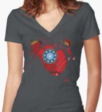 Ripped Reactor Women's Fitted V-Neck T-Shirt