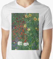 Gustav Klimt - Farm Garden With Flowers - Klimt- Landscape- Garden With Flowers T-Shirt