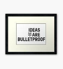 V For Vendetta Movie Quotes Anonymous Framed Print