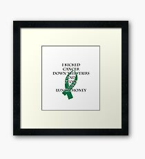Cancer Bully (Green Ribbon)  Framed Print