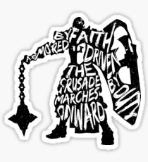 Armored by Faith, Driven by Duty Sticker