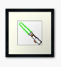 8bit lightsaber Framed Print