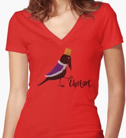 Upstart Crow Women's Fitted V-Neck T-Shirt