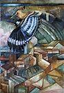 hoopoe (Upupa epops) by elisabetta trevisan