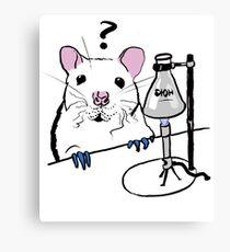 Chemistry Rat Canvas Print