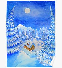 A little house in the snow Poster