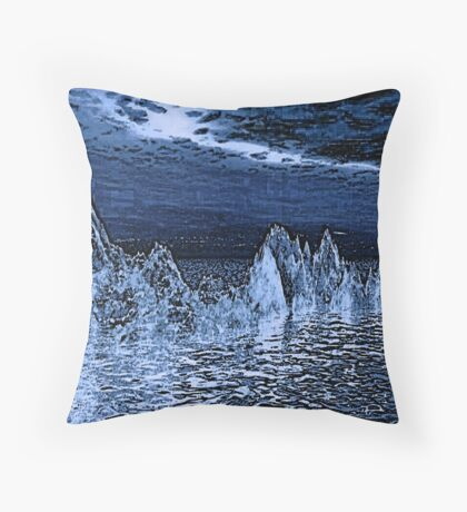 DENIM & ICE-REFLECTIONS IN BLUE Throw Pillow