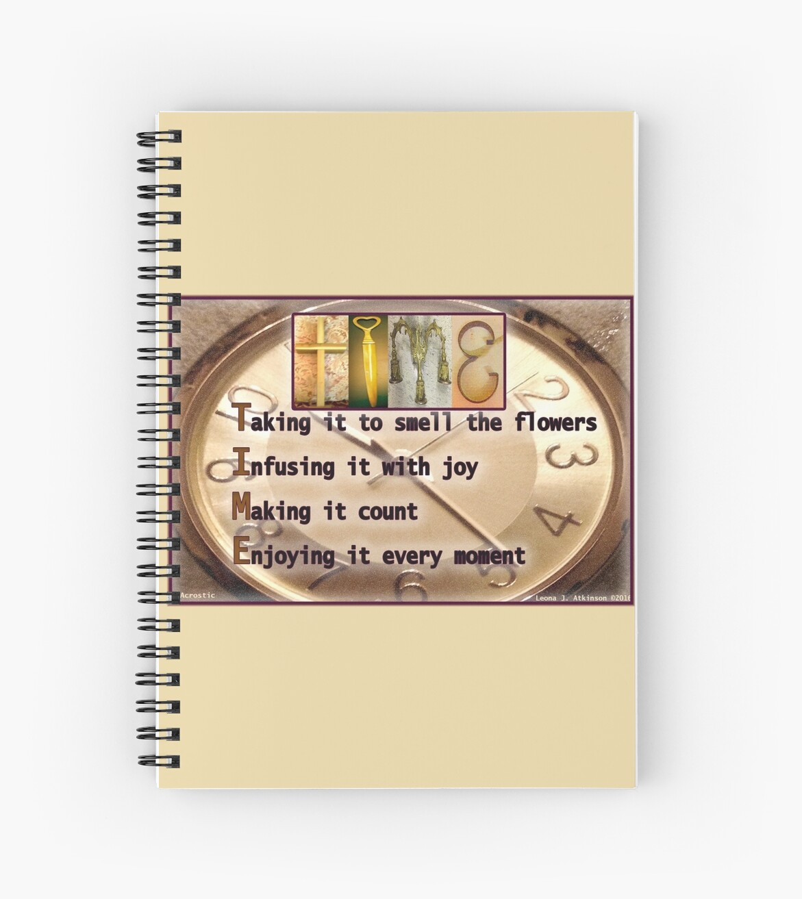 TIME--Alphabet Art Acrostic Journal by LeonasDesigns