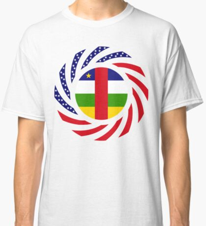 Central African Republic American Multinational Patriot Flag Series Classic T-Shirt