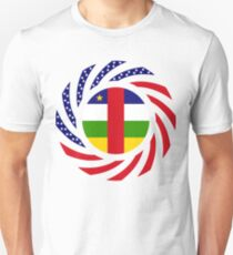 Central African Republic American Multinational Patriot Flag Series Slim Fit T-Shirt