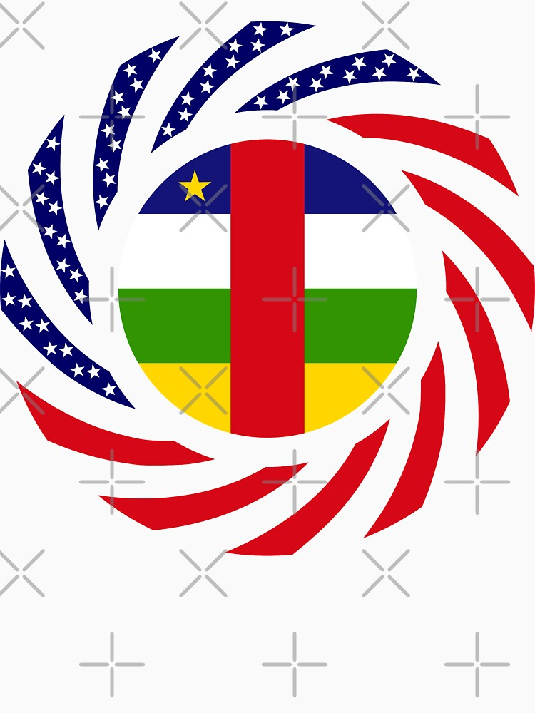 Central African Republic American Multinational Patriot Flag Series by carbonfibreme