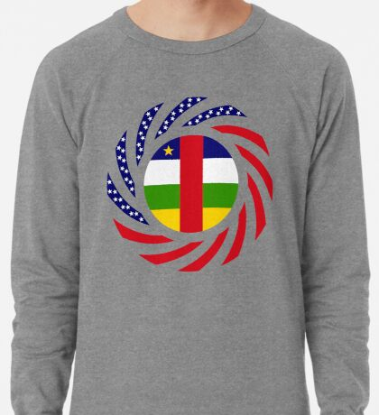 Central African Republic American Multinational Patriot Flag Series Lightweight Sweatshirt