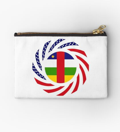 Central African Republic American Multinational Patriot Flag Series Zipper Pouch