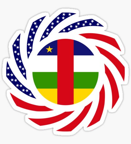 Central African Republic American Multinational Patriot Flag Series Sticker