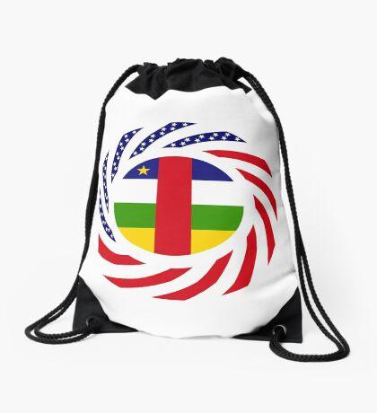 Central African Republic American Multinational Patriot Flag Series Drawstring Bag