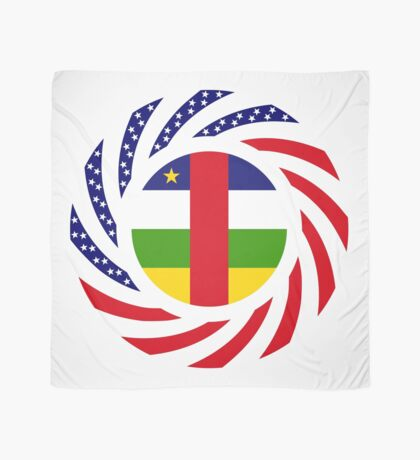 Central African Republic American Multinational Patriot Flag Series Scarf