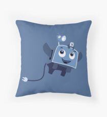The Brave Little Toaster Goes To The Surface! Throw Pillow