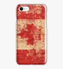 Canadian grunge flag - Canada iPhone Case/Skin