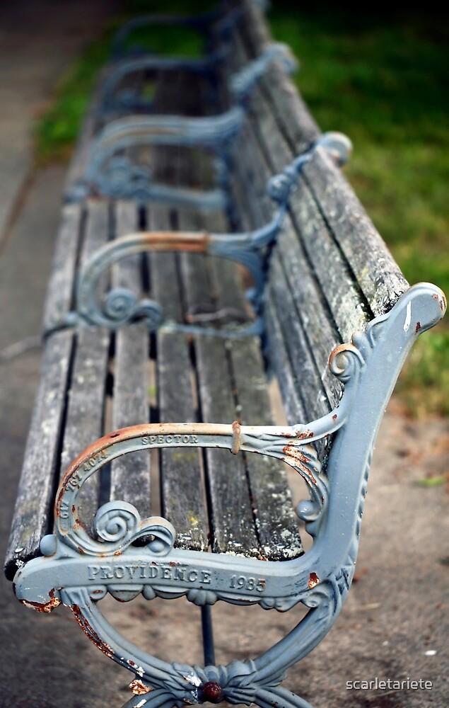 park bench in Providence by scarletariete