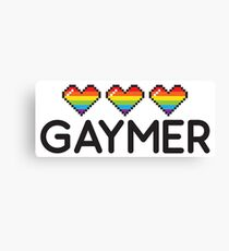 Gaymer Funny Rainbow LGBT Pride Video Game Lives Canvas Print