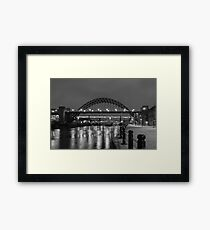 The Tyne Bridge at Night Framed Print