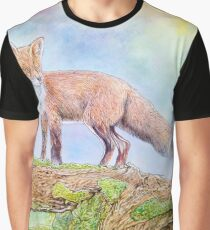 The fox in the woods Graphic T-Shirt