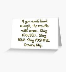 """Eye On The Prize"" Dream BIG Design Greeting Card"