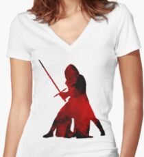 Kylo Ren - Star Wars Women's Fitted V-Neck T-Shirt