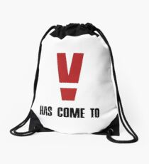 V Has Come To - Metal Gear Solid V Drawstring Bag