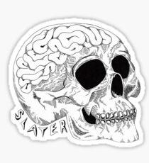 Slater Skull Brains Sticker Sticker